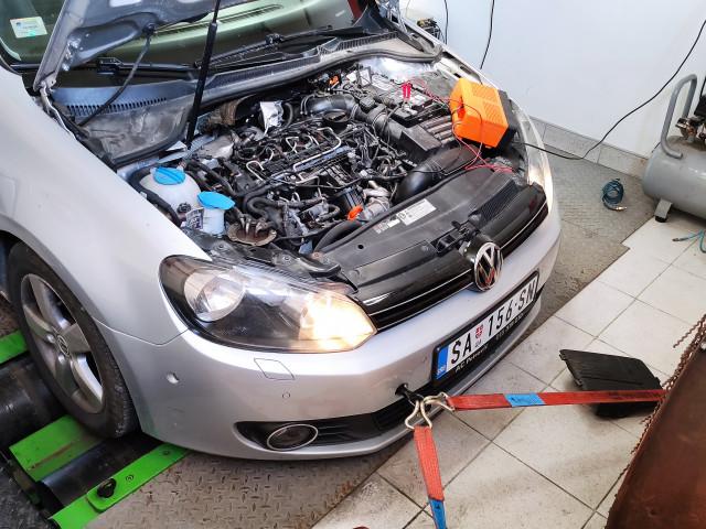 VW Golf VI Chiptuning sa dyno merenjem snage.